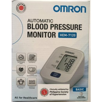 Harga Automatic Arm Type Blood Pressure Monitor Brand Omron HEM-7120 (White)