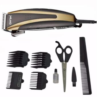 Harga Gemei 1026 Hair Clipper Trimmer 9-piece Set. Professional (Black/Gold)