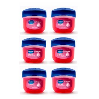 Harga 6pcs Vaseline Lip Theraphy Rosy Lips