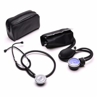 Harga Aneroid Sphygmomanometer Blood Pressure Measure Device Kit Cuff Stethoscope