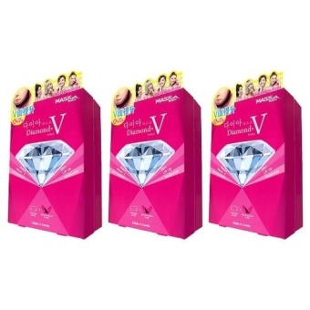 3 x Mask House Slimming Series Diamond V Fit Mask 1box, 6pcs - intl Price Philippines