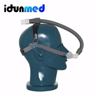 Harga NP1 Size CPAP APAP BiPAP Nasal Pillows Respirator Mask With Headgear For Sleep Apnea Storing - intl