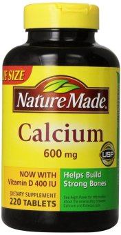 Harga Nature Made Calcium 600 Mg- with Vitamin D3 Bottle of 220