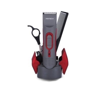 Harga Pritech PR-760 Rechargeable Hair Clipper (Gray/Red)