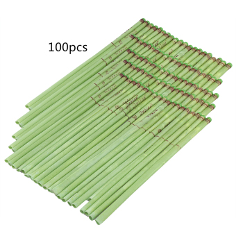 Harga Straight Style Natural Ear Candling Therapy Healthy Care Candle (100pcs Tea Fragrance-Green) - intl