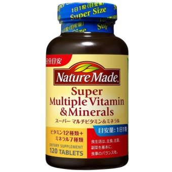 Harga Nature Made Super Multiple Vitamin and Minerals 120 Tablets