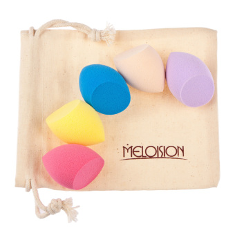 Harga MagiDeal 5pcs/Set Makeup Foundation Powder Liquid Blender Sponge Puff -Egg Shape