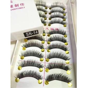 Taiwan Natural Black Long False Eyelashes (10 Pairs) - SN14 Price Philippines