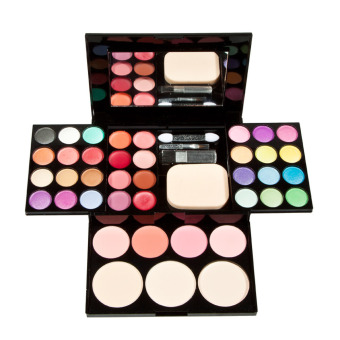 Harga Makeup Palette Set Eyeshadow Lip Gloss Foundation Powder Blusher Puff Tool