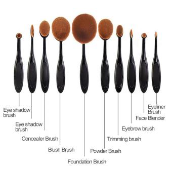 Harga 10x Beauty Toothbrush Shaped Foundation Power Oval Cream Puff Brushes Set Hot