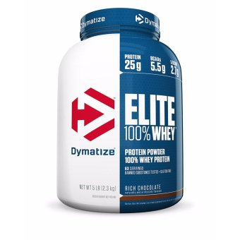 Harga Dymatize Elite 100% Whey Protein, Rich Chocolate, 5 lbs