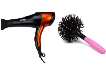 Harga RBROWN BR-8805 Hot & Cold 3000W Professional Hair Dryer With 3D Bomb Curl Brush