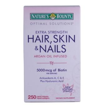Harga Nature's Bounty Extra Strength Hair, Skin & Nails, 250 Softgels