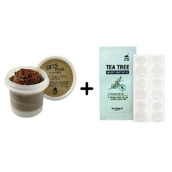 SKINFOOD Black Sugar Mask Wash Off 100g with SKINFOOD Tea Tree Secret Spot Patch Korean Cosmetics Price Philippines