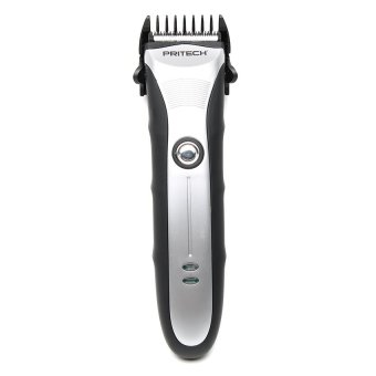 Harga Pritech PR-1186 Rechargeable Professional Hair Trimmer (Silver/Black)