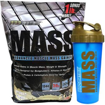 Harga Promatrix Mass Advanced Muscle Mass Gainer 11lbs Vamilla- Bonus with Free Shaker