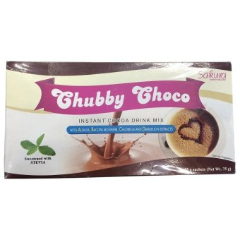 Harga Sakura Chubby Choco Instant Cocoa Drink Mix for Weight Gain