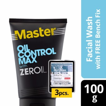 Harga Master Facial Wash Oil Control Max 100g with Free Bench Clay Doh