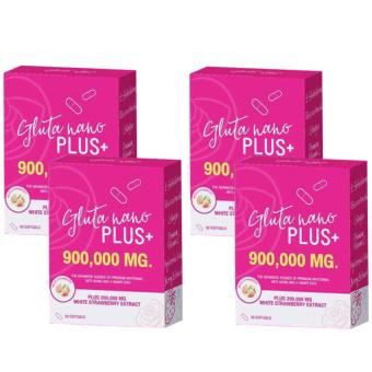 Gluta Nano Plus+ 900,000mg (30 Softgels) (New Advanced Formula) Bundle of 4 Price Philippines