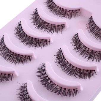 5 Pairs Sparse Cross Thick Eye Lashes Extension Long Fake False Eyelashes - intl Price Philippines