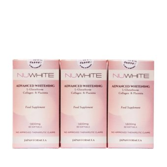 NuWhite Glutathione 1600mg Softgel Bottle of 60 (Set of 3) Price Philippines