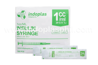Indoplas 1cc/mL Insulin Syringe