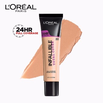 Infallible Total Cover Liquid Foundation - 303 Nude Beige [#GotItCovered 24HR Full Coverage] by L'Oreal Paris