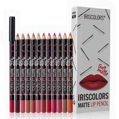 Iris Colors 12pcs Soft Matte Lip Liner Lip Pencil (12 Colors) Philippines