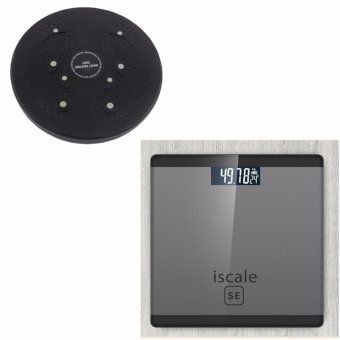 Iscale SE Digital Scale High Accuracy Weight Scale (Black-Gray)With free Waist Twisting Disc Healthy Massager (Black)