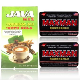 Java Mix Tongkat Ali & Max-man Penis Enlarger and SexEnhancement Supplement 2800mg Pills Set of 2 Price Philippines