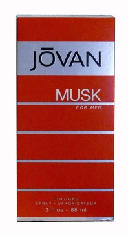 Jovan Musk Eau De Cologne Spray for Men 88ml with Free GlutathioneSoap
