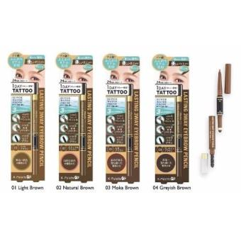 K-Palette Lasting 3-way Eyebrow Pencil 03 Mocha Brown 1 Day Tattoo