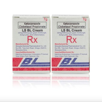 Ketoconazole Clobetasol Propionate LS BL Cream Set of 2 with freerosy lip therapy 7g Price Philippines