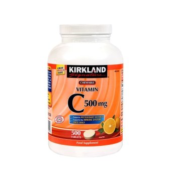 Kirkland Signature Chewable Vitamin C 500 mg Bottle of 500