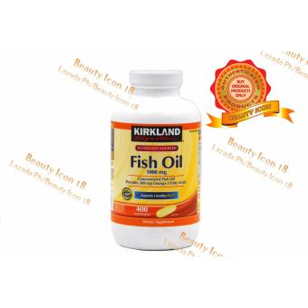 Kirkland Signature Fish Oil Concentrate 1000mg Softgel Bottle of 400