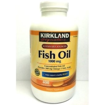 Kirkland Signature Fish Oil Concentrate 1000mg Softgel Bottle of400