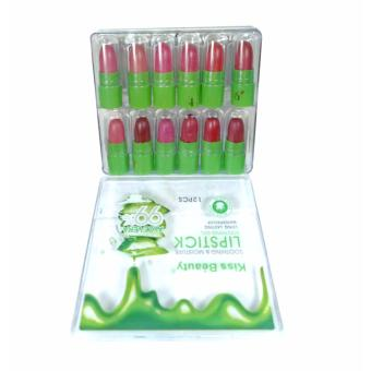 Kiss Beauty 99% Natural Pure Aloe Vera Moisturizing Lipstick 12pcs(Multi-color)