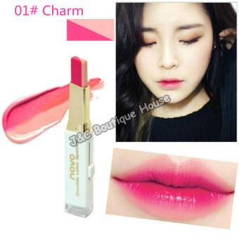 Korea NOVO Double Color Lipstick Makeup Moisturizing Color Gradient Lipstick #1