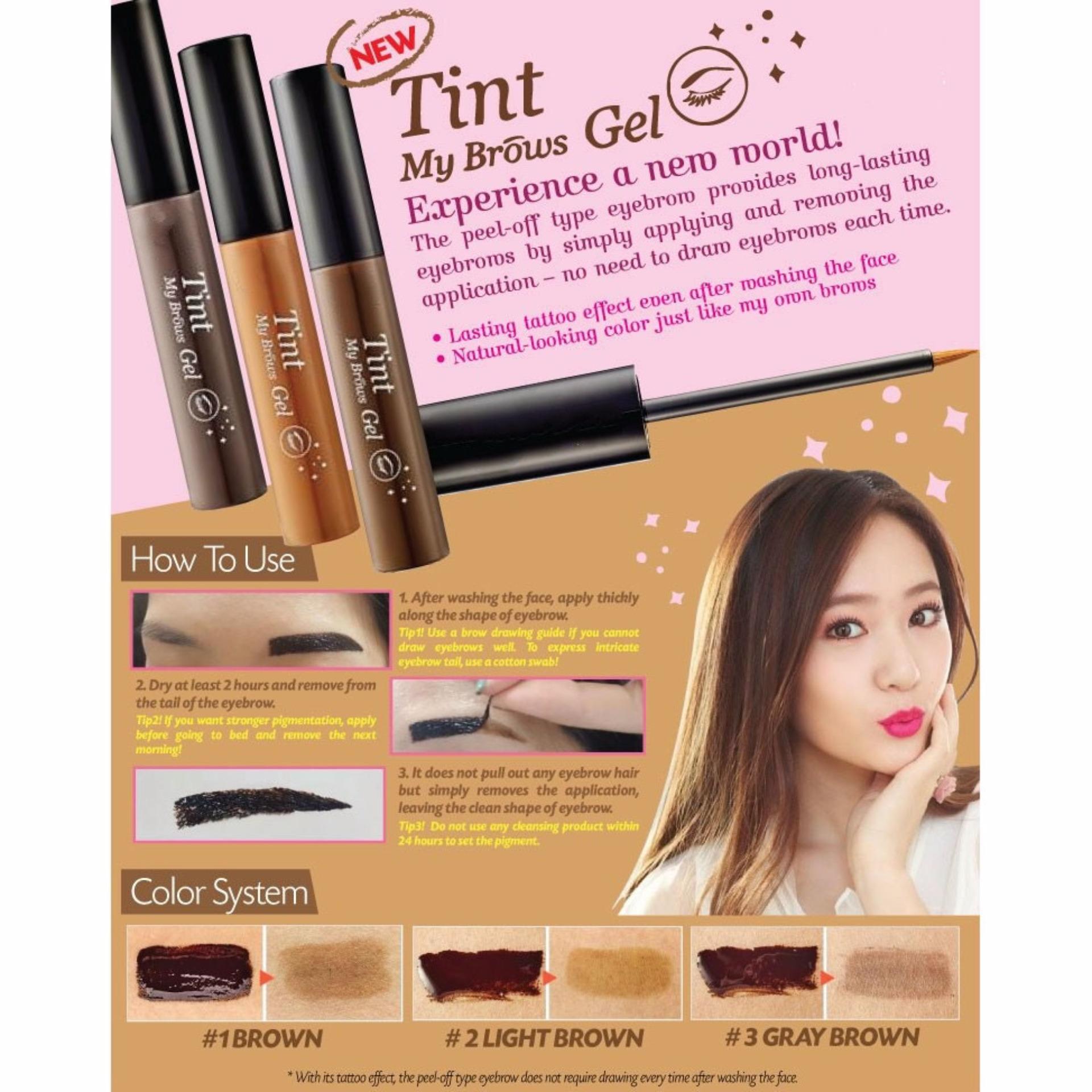 Philippines Korea Tint My Brows Gel Dark Brown 5g New Price Drawing Eyebrow