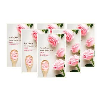 Korean Cosmetics Innisfree It's Real Squeeze Mask (Rose) 6 pcs.