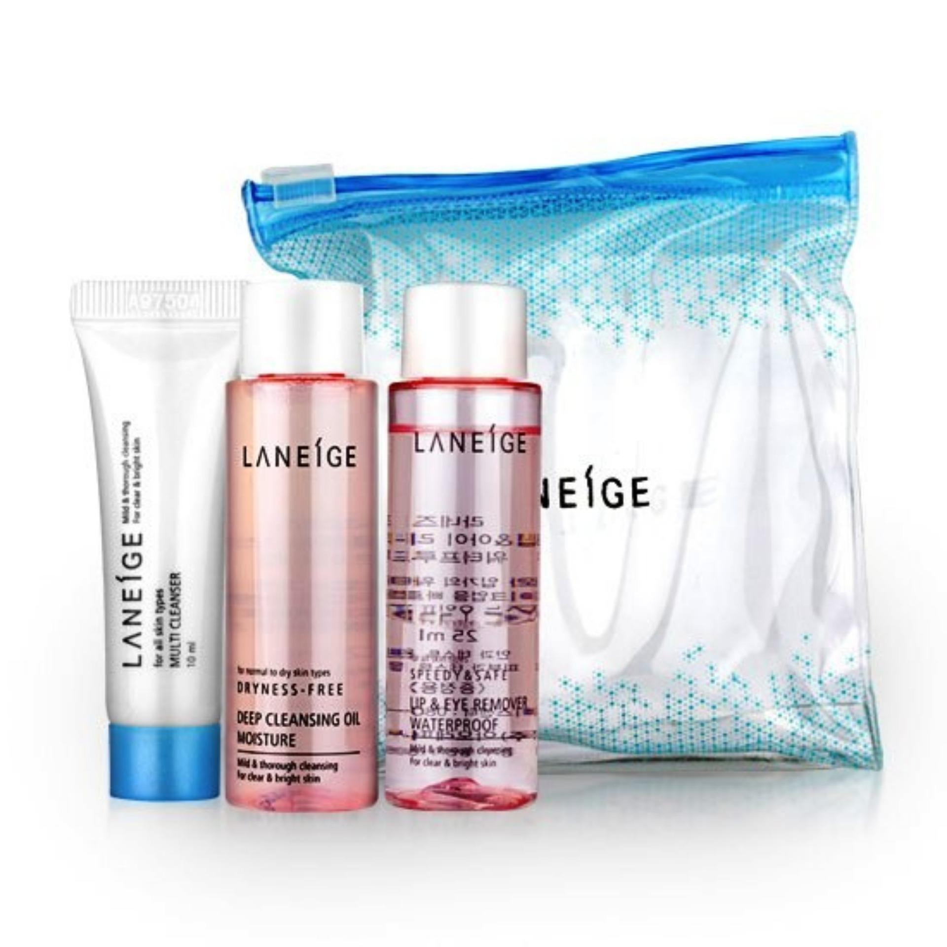 Philippines Korean Cosmetics Laneige New Cleansing Trial Kit 3 Lip Eye Make Up Remover Waterproof Ex 25ml Items