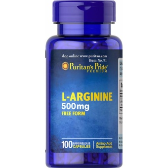 L-Arginine 500mg 100 capsule for Men & women's Health