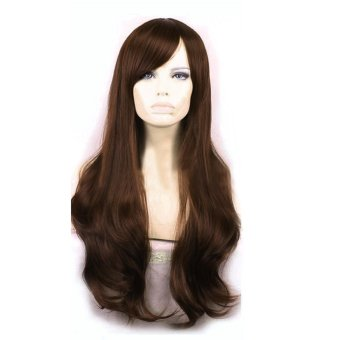 La Vie Soft Hair Sexy Long Wave Synthetic Full Lace Cosplay Women Wigs(Dark Brown)