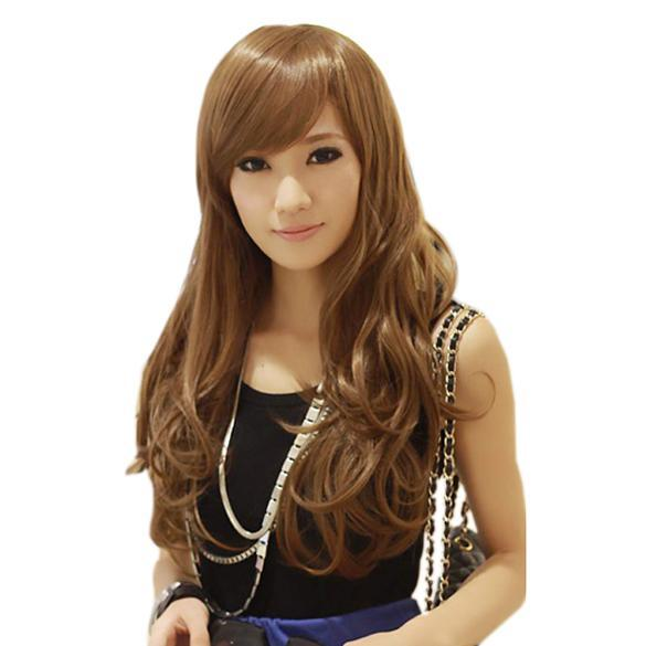 Lady Long Curl Wavy Clip-on Hair Extension Wig Long 55cm Width 25cm - intl ...