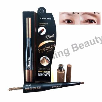 Landbis Dual Eyebrow Pencil and Eyebrow Gel brow tint long lasting brown