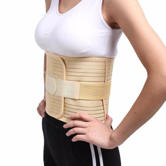 (Large)Adjustable Lumbar Back Waist Brace Support Belt Corset forweight loss Lower Back Pain Helps with Posture and for LiftingLumbar - intl