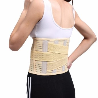 (Large)Adjustable Lumbar Back Waist Brace Support Belt Corset forweight loss Lower Back Pain Helps with Posture and for LiftingLumbar - intl - 3
