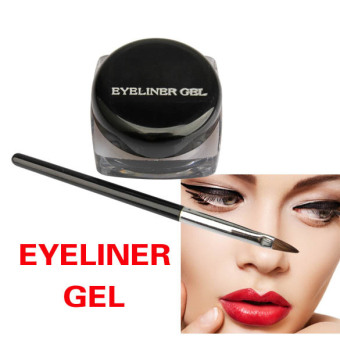 LaVie Eye Liner Makeup Waterproof Eyeliner Gel Cream With Brush(Black) - Intl