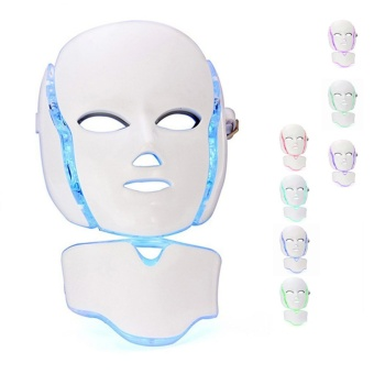 LED Photon Face&Neck Mask 7 color Lights Facial Mask With Neck Attachment Beauty - intl Price Philippines