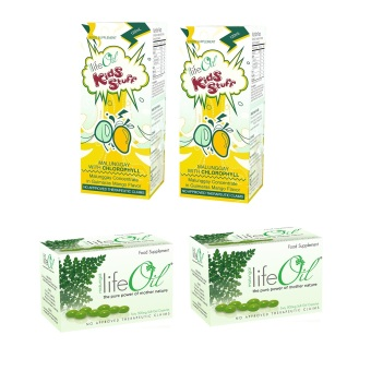 Life Oil Malungai 500mg Softgel Capsules Box of 60 Set of 2 withLifeOil Kids Stuff Malunggay with Chlorophyll 120ml Set of 2 Bundle
